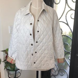 BURBERRY BEIGE QUILTED PRINT LINING JACKET XL